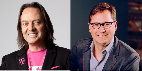 T-Mobile CEO John Legere (left) will hand over the reins to Mike Sievert (right), currently the operator's president and chief operating officer, later this year.