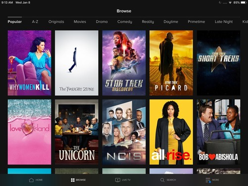 CBS All Access is currently available on a wide range of retail streaming platforms, including iPads (shown here). Under the new Comcast deal, CBS All Access will also be offered on the cable operator's X1 and Xfinity Flex boxes.