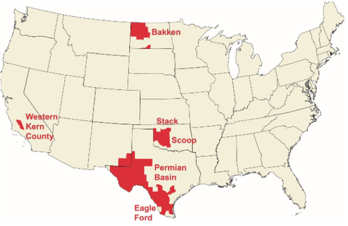 Infrastructure Networks covers some of the biggest oil and gas areas of the US. (Source: Infrastructure Networks)