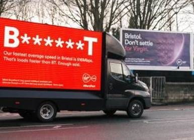 You can't park there mate: Virgin goes to war over BT's 'broadband bunkum'