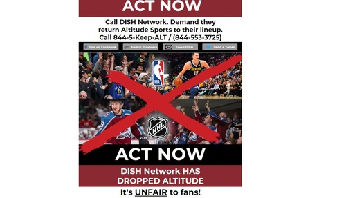 Altitude has urged local sports fans to act after its deal with Dish expired last August.