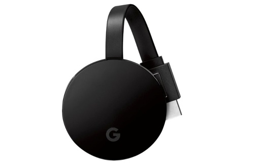 The current-gen Chromecast Ultra supports 4K video, but does not bake in Android TV or work with a separate remote control.