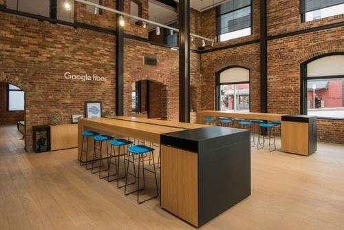 A Google Fiber Space location in Raleigh, North Carolina.  (Image source: Google Fiber)
