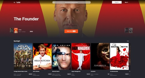 Tubi's says its ad-supported library touts more than 20,000 movie and TV titles through deals with dozens of content partners.