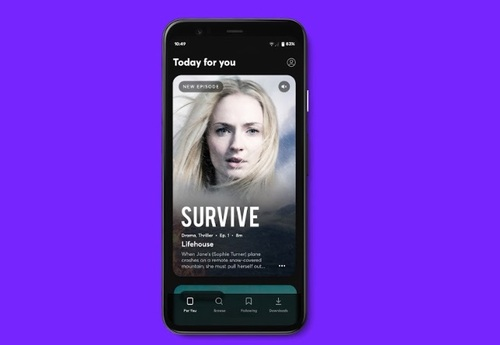 Survive, a drama starring Sophie Turner, is among the titles available on Quibi at launch.