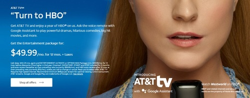 The new AT&T TV service launched nationwide in early March.