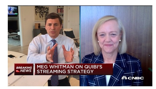 CNBC's David Faber chats with Quibi CEO Meg Whitman in a segment that aired Monday.