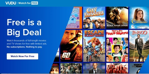 Vudu's free, ad-supported streaming service features more than 10,000 titles.