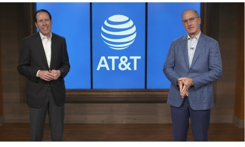 John Stankey (right) is will succeed Randall Stephenson as CEO of AT&T on July 1.   (Image source: AT&T)