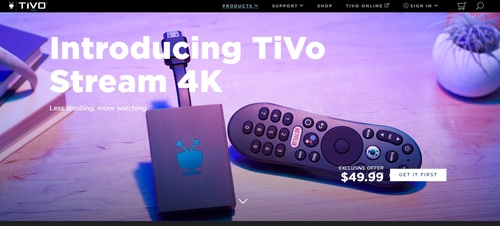 TiVo is selling the Stream 4K at an introductory price of $49.99, $20 off the regular price.