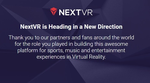 NextVR's home page doesn't say as much, but its next chapter will be written by Apple.