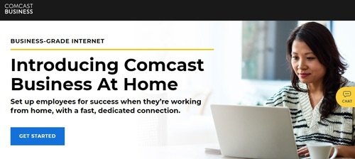 Comcast Businesses new 'At Home' offering enables small and midsized   commercial customers add dedicated service lines for their remote workforce.