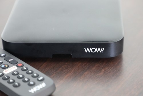 WOW's new IPTV service runs on an operator-supplied Android TV box.