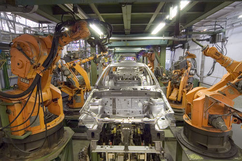 Nokia hopes 5G will figure prominently in automated factories such as the one pictured.