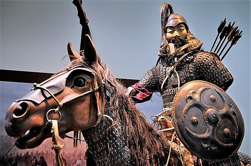 Genghis Khan, an empire builder with a more violent reputation.