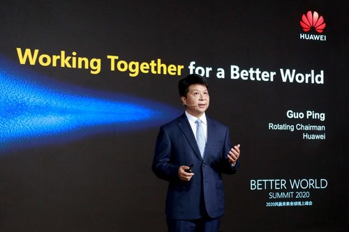 Guo Ping talks about 5G commercial success at the Better World Summit 2020
