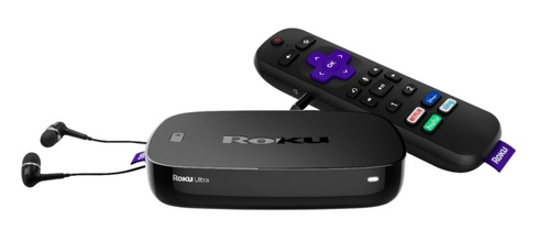 Alongside a rise in streaming hours and active accounts, Roku's player business also got a sizable lift in Q2. Pictured is the Roku Ultra 4K Streaming Media Player.