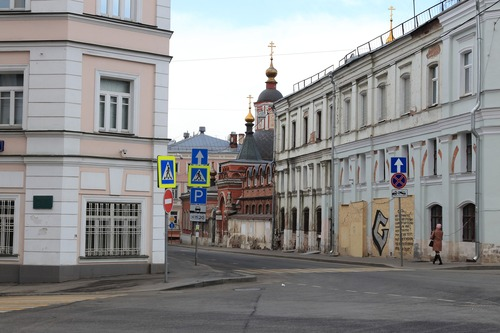 The streets of Moscow have emptied during the pandemic.
