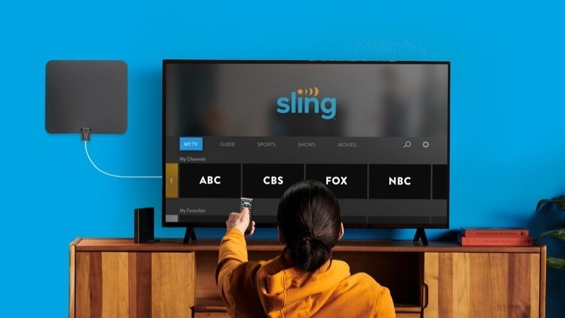 Sling TV's tie-in with new LG connected TVs provides viewers with access to OTT-delivered channels and over-the-air TV signals on an integrated guide.  (Source: Sling TV)