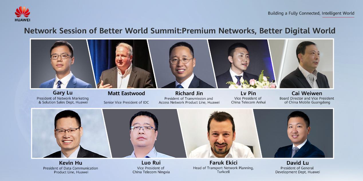 Keynote speakers from IDC, China Telecom Anhui, China Mobile Guangdong, China Telecom Ningxia, Turkcell and Huawei.