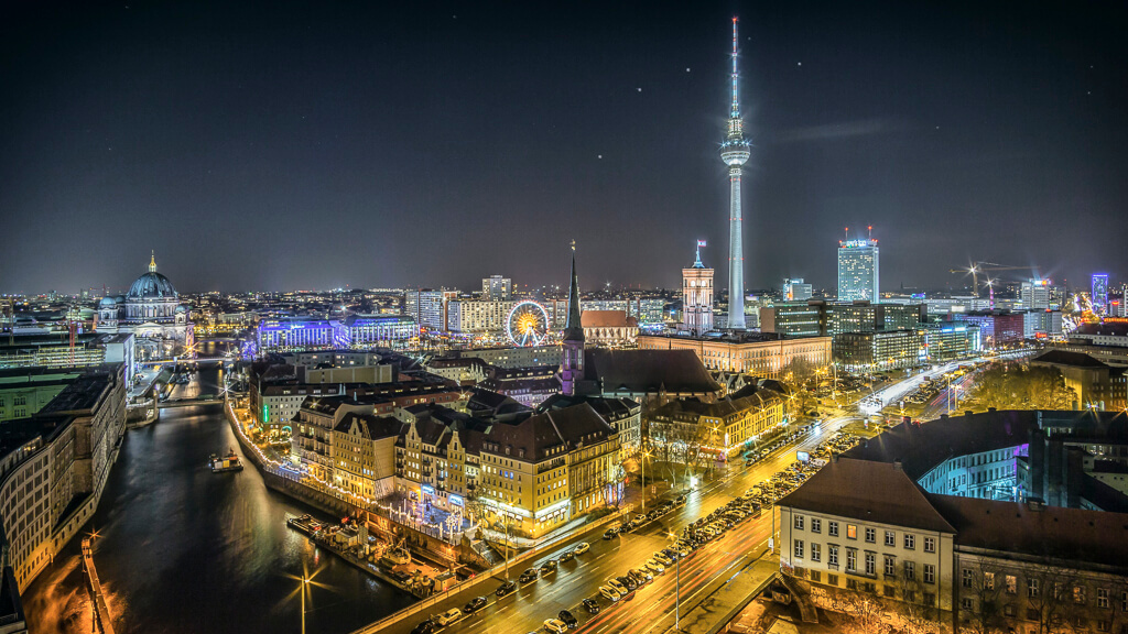 Berlin by night: Mavenir's experience in German-speaking markets means the partnership will focus there. (Source: Stefan Widua on Unsplash)