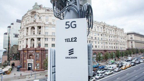 Putin 5G where it's needed: Tele2 established its first 5G zone in the center of Moscow in August 2019. (Source: Ericsson)