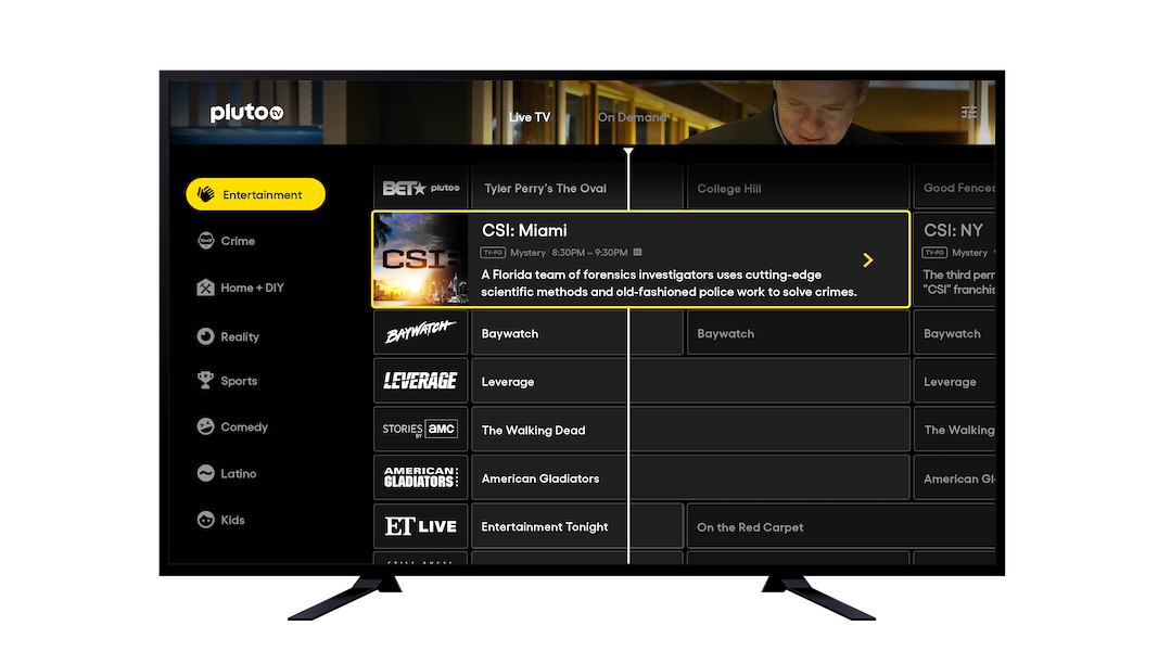 Pluto TV is changing channels... and its mix of content genres.