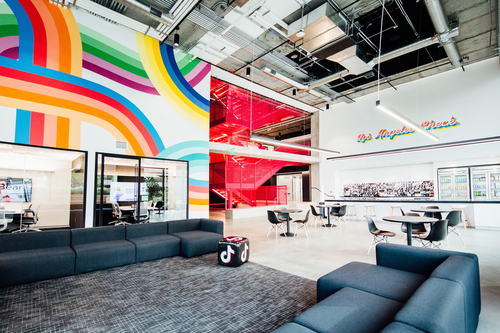 ByteDance's Los Angeles offices. Of course, everyone's office looks this empty these days. (Source: ByteDance)