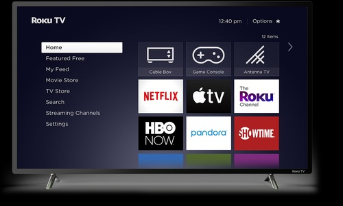 Roku says more than a dozen TV makers will introduce Roku TV models in  Canada, Mexico, the US and the UK in 2020. Pictured is a generic version of Roku's interface for smart TVs.