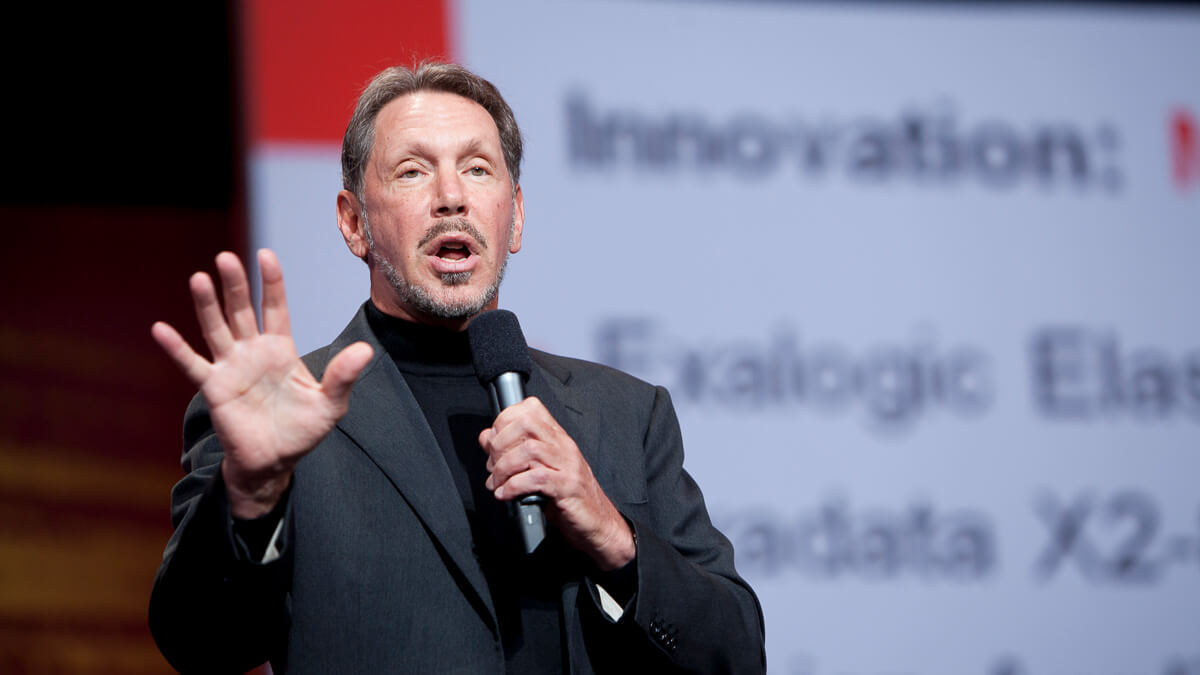Friendly relations: Coincidentally, Larry Ellison, CEO of Oracle, has publicly praised US President Donald Trump.  (Source: Oracle)