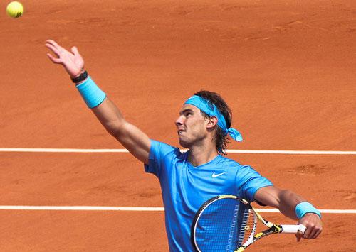 Spain's Rafael Nadal on his favorite surface.