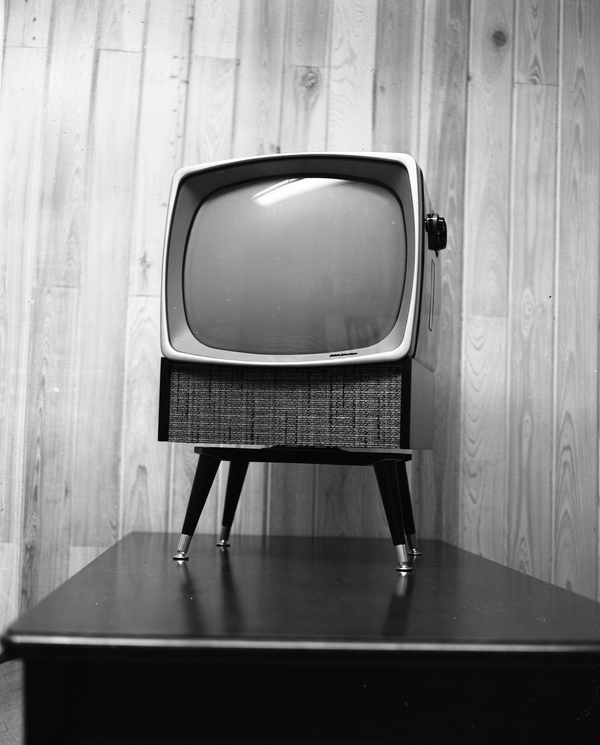 A new TV on a showroom floor in Tallahassee, Florida, circa 1957. Photo courtesy of the Tallahassee Democrat Collection.
