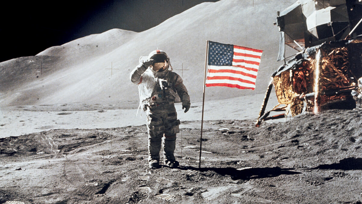 One small step: Astronaut David R. Scott on the lunar surface during the Apollo 15 mission in 1971, just one year before the final mission in 1972.  (Source: NASA)