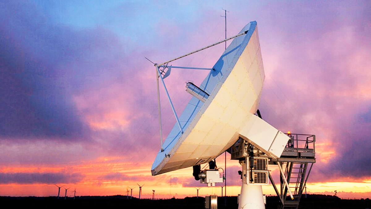 In the air: Getting your 5G from a satellite could help connect hard to reach places and moving targets.  (Source: Avanti Communications)