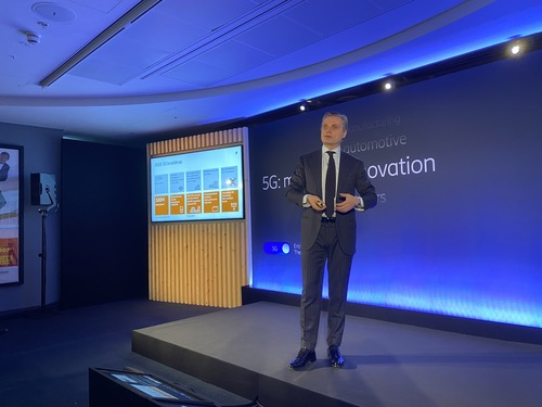 Ericsson's Fredrik Jejdling, speaking at an Ericsson event in early 2020.