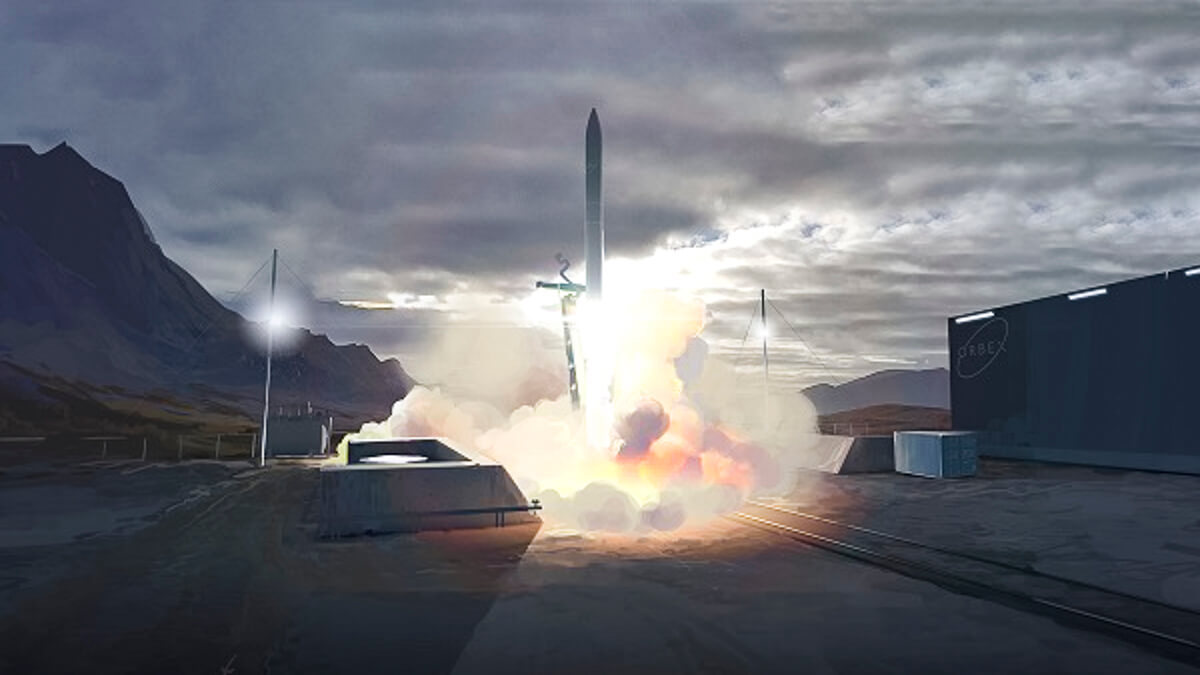 Make it so: Render of an Orbex rocket taking off from the planned spaceport in Sutherland, northern Scotland. (Source: Orbex)