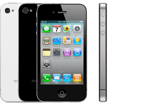 From a decade ago: the iPhone 4. The first flattish iPhone. Photo courtesy of Apple.