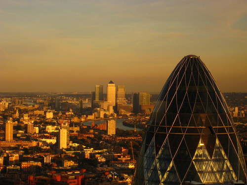 London's famous Gherkin building.  (Source: Harshil Shah via Creative Commons)
