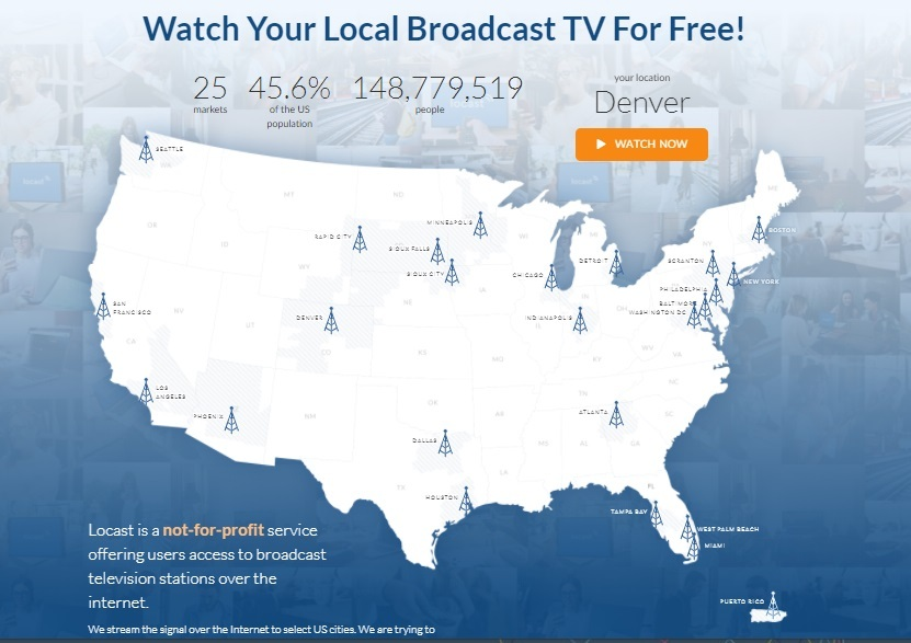 Locast's geo-fenced local TV streaming service is now in more than two dozen markets and has about 1.7 million registered users.