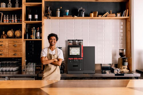 The smile that says 'my coffee machine is connected'