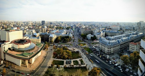 Downtown Bucharest, where Orange may soon have a fixed-line network offer.