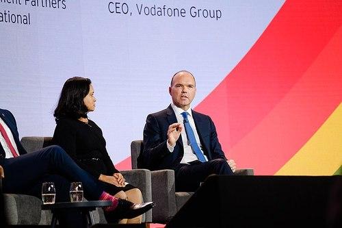 Vodafone's Nick Read cites recent improvements in customer satisfaction scores.