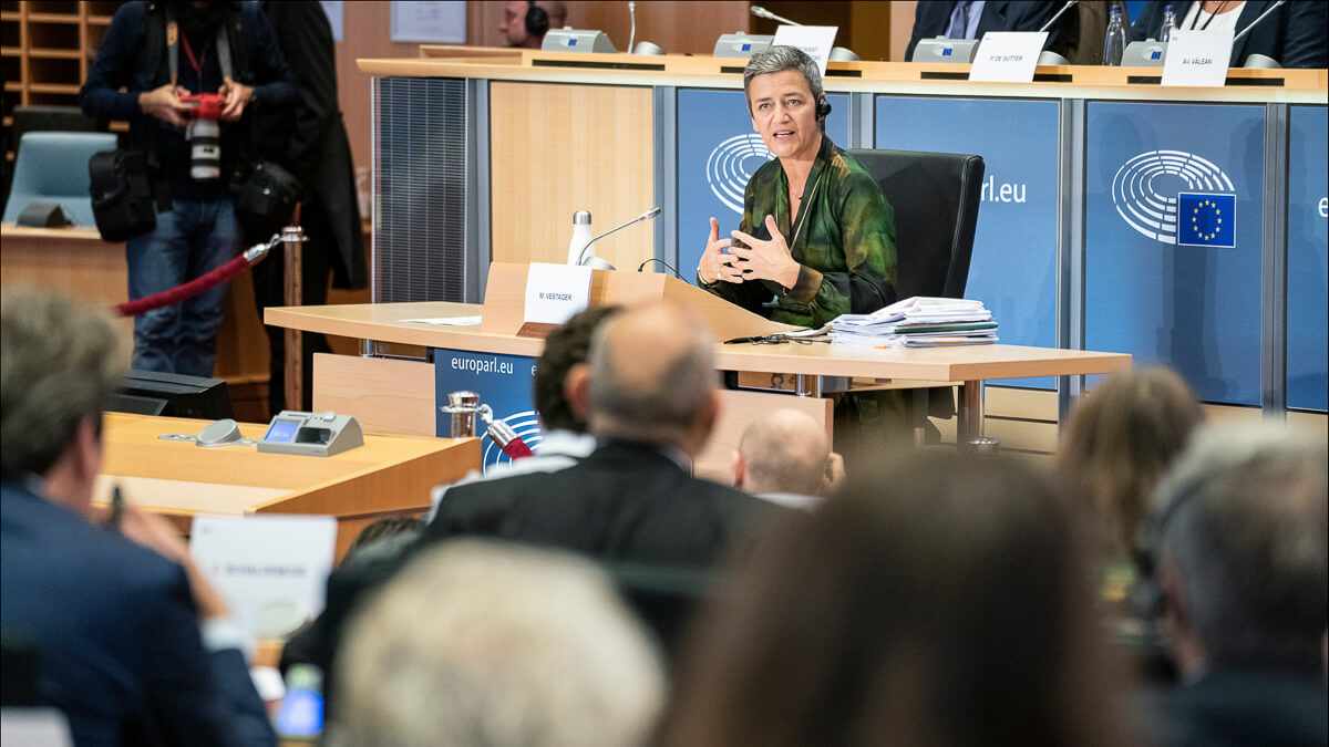 Too slow and steady: The EU's external auditor says the EC – and Competition Commissioner Margrethe Vestager – need to scale up attempts to tackle big tech.  (Source: European Parliament)