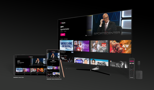 The new TVision streaming service launched exclusively to T-Mobile postpaid mobile subscribers on November 1. T-Mobile, which will soon extend the new OTT-TV service to legacy Sprint subs, has plans to make TVision available to prepaid mobile customers and non-T-Mobile customers sometime in 2021.   (Image source: T-Mobile)