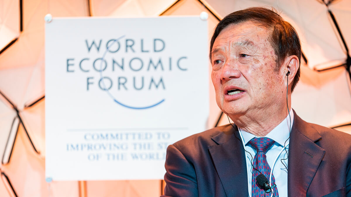 Clear messaging: 'We finally realized that American officials weren't trying to fix us. They were seeking to kill us.' – Huawei founder Ren Zhengfei.  (Source: World Economic Forum on Flickr CC2.0)