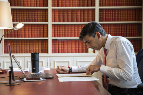 UK Chancellor of the Exchequer Rishi Sunak figures out what is available for telecom.