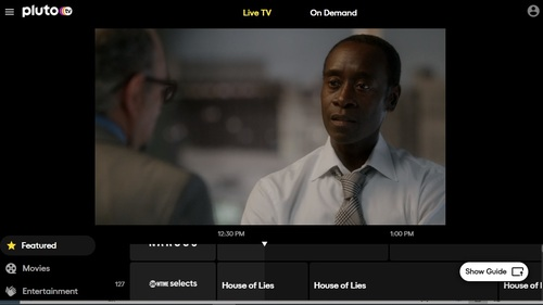 On Tuesday afternoon, Showtime Selects was running episodes of 'House of Lies,' a comedy series starring Don Cheadle and Kristen Bell.