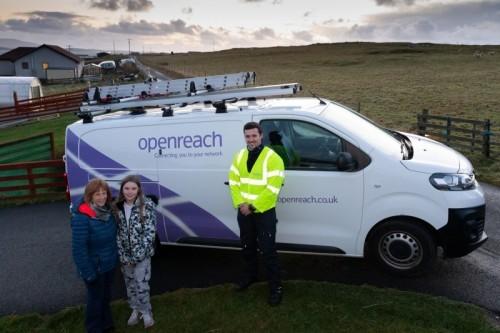 Remote working: Openreach's Jack Scobie brings gigabit joy to South Whiteness, Shetland