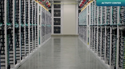 A view from inside Microsoft's Columbia data center.