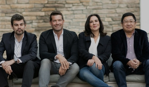 Struum's founders (left to right): Thomas Wadsworth, former lead of advanced product development for Walt Disney Engineering; Paul Pastor, former EVP at Discovery Networks; Lauren DeVillier, former head of product for Discovery Ventures; and Eugene Liew, former VP of product and technology at Disney+.  (Image source: Struum)